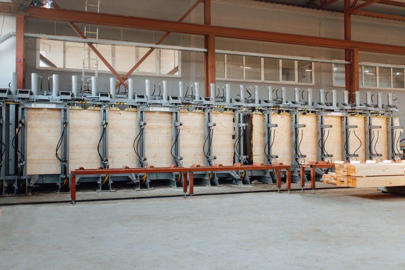Пресс гидравлический для склейки бруса 13,5 метров